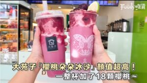 20200728 【全台】今夏最美飲品! 大苑子「櫻桃朵朵冰沙」粉嫩漸層超好拍 一杯加進「18顆櫻桃+頂級鮮乳」太有誠意